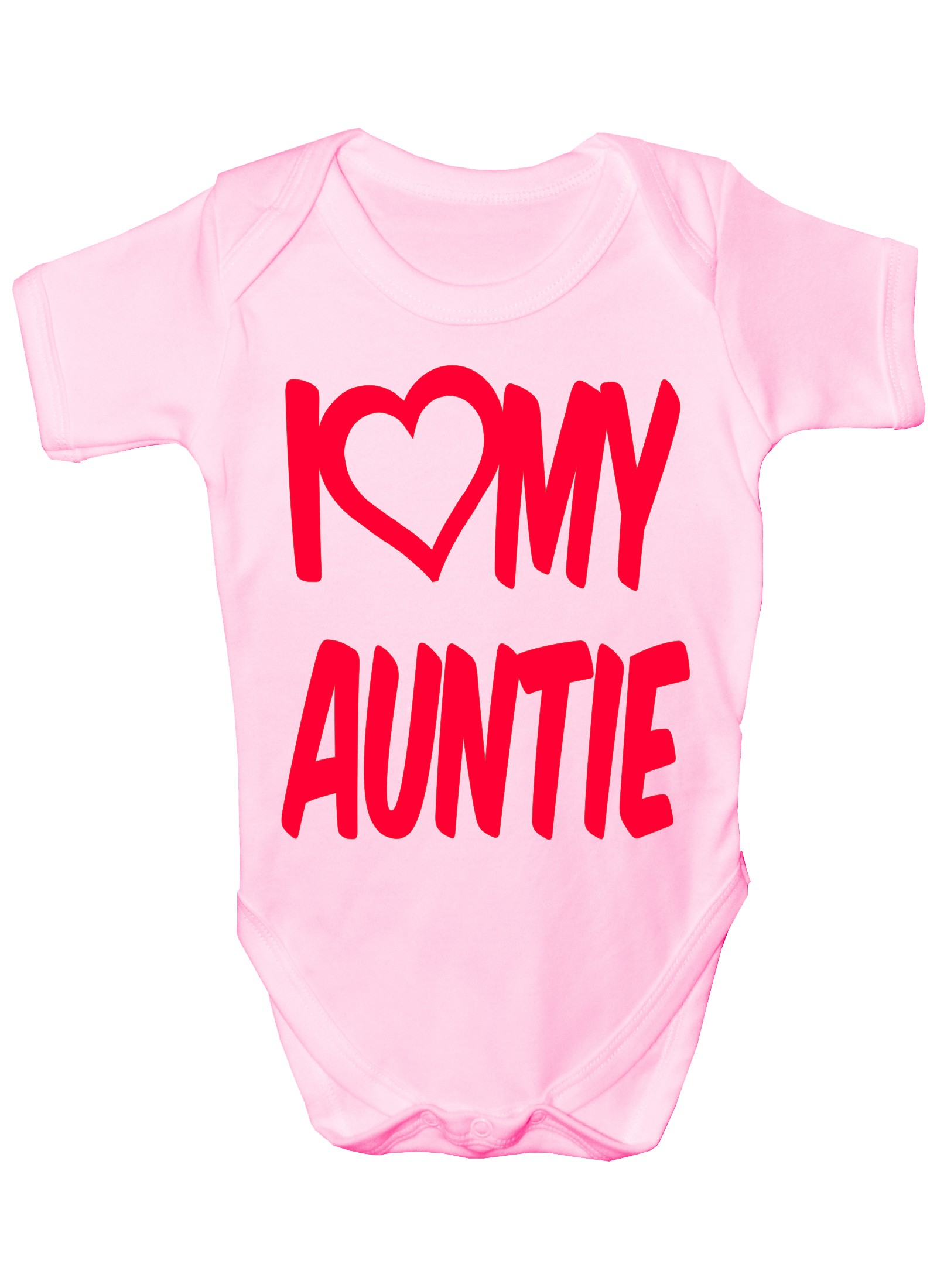 I Love My Auntie Boys Girls Baby Babygrow Gift 0 18 Months